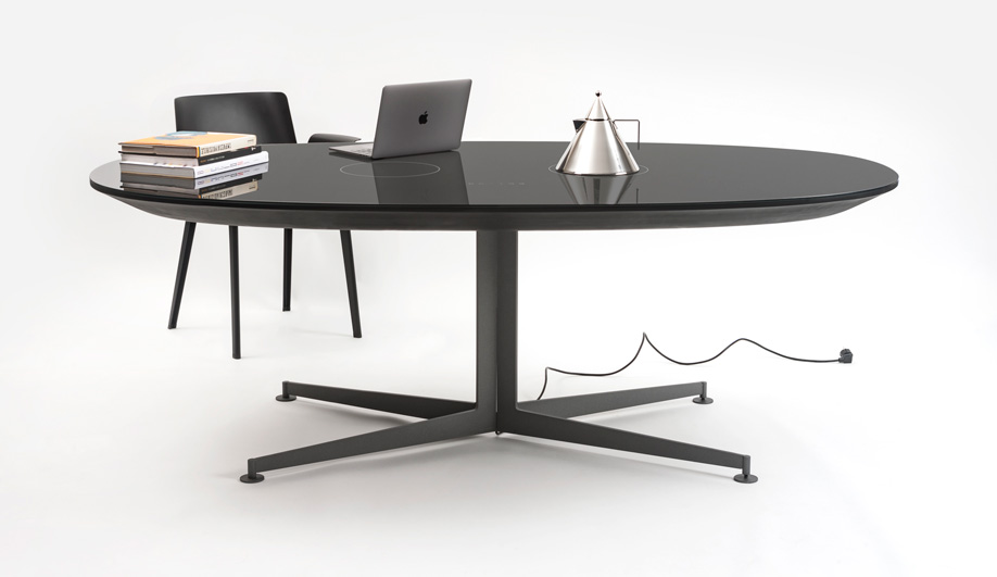 Office, Meet Kitchen: Kartell's I-Table Can Be Used as a Workspace or Stovetop