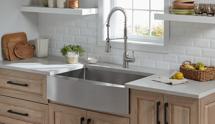 Contemporary Kitchen Sinks: Pekoe Apron Front by American Standard