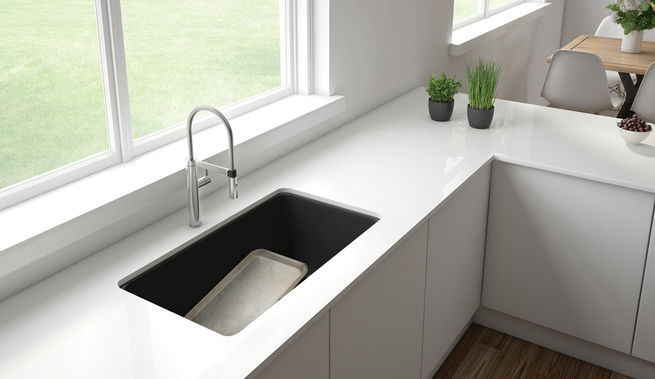 Contemporary Kitchen Sinks: Precis U Low Divide by Blanco