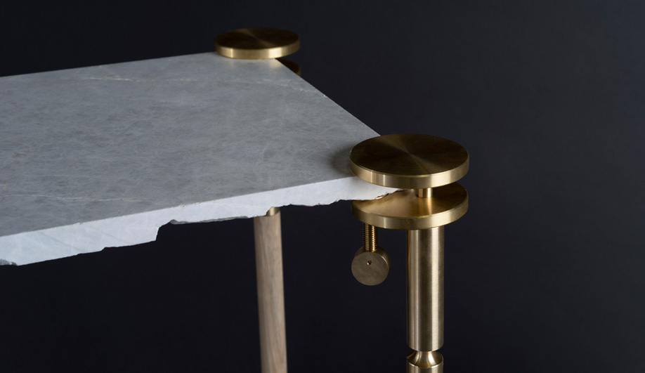 The Remnants Clamp Turns Unwanted Materials Into Tables