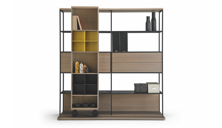 Teknion's Punt Collection: Literatura Open Shelf System