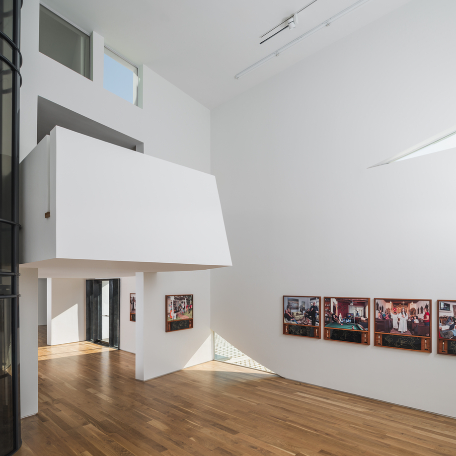 The gallery space in Houston's Transart Foundation for Art and Anthropology