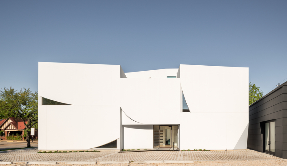 The exterior of Houston's Transart Foundation for Art and Anthropology