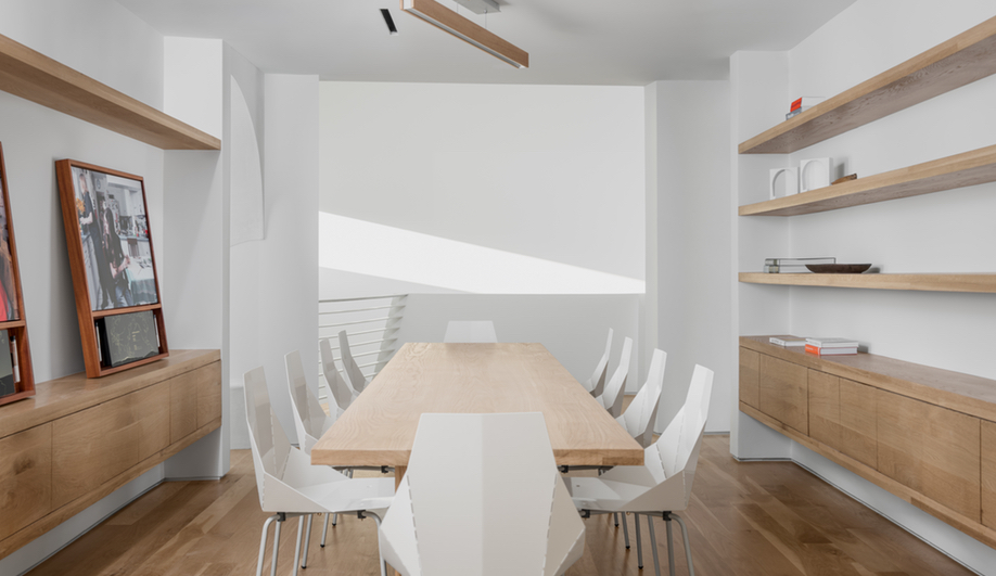 The meeting room in Houston's Transart Foundation for Art and Anthropology