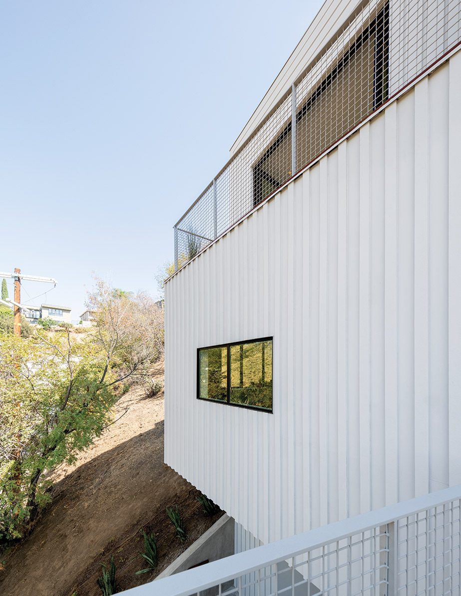 The cladding of FreelandBuck's Stack House in L.A.