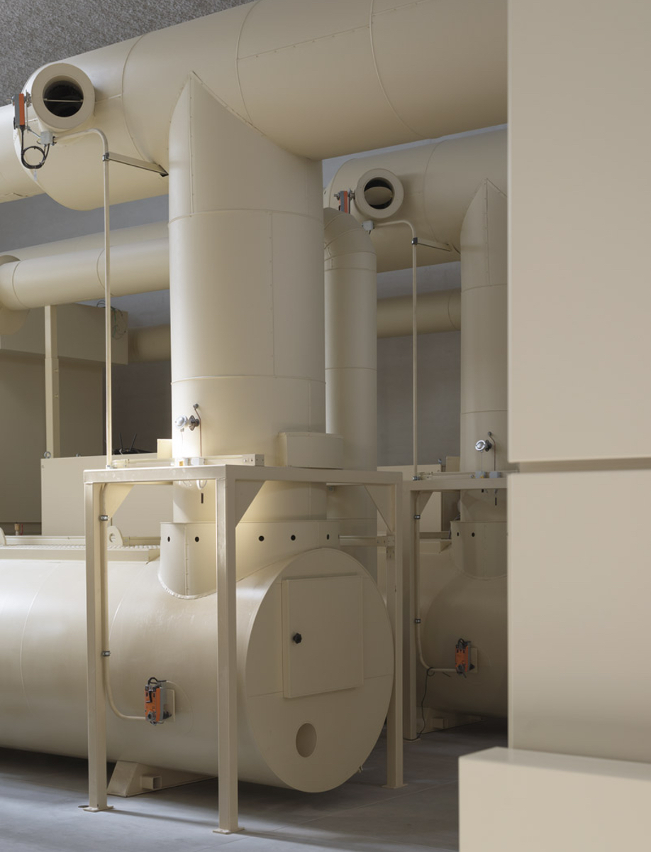 The cremator in KAAN Architecten's modernist Crematorium Siesegem
