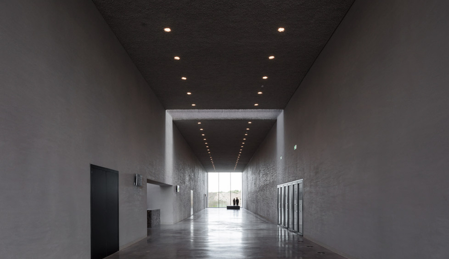 Lighting in KAAN Architecten's modernist Crematorium Siesegem