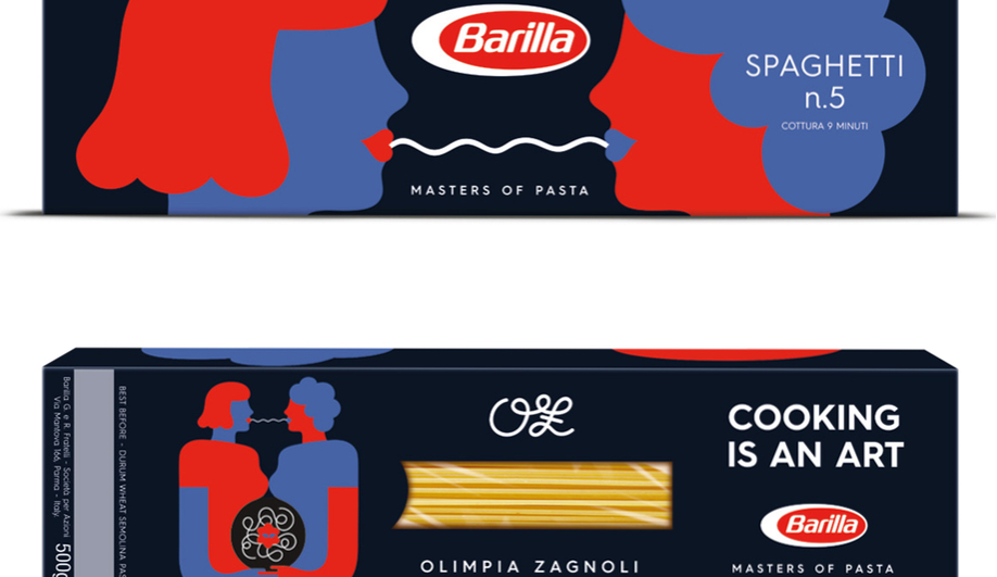 Olimpia Zagnoli's new Barilla package design