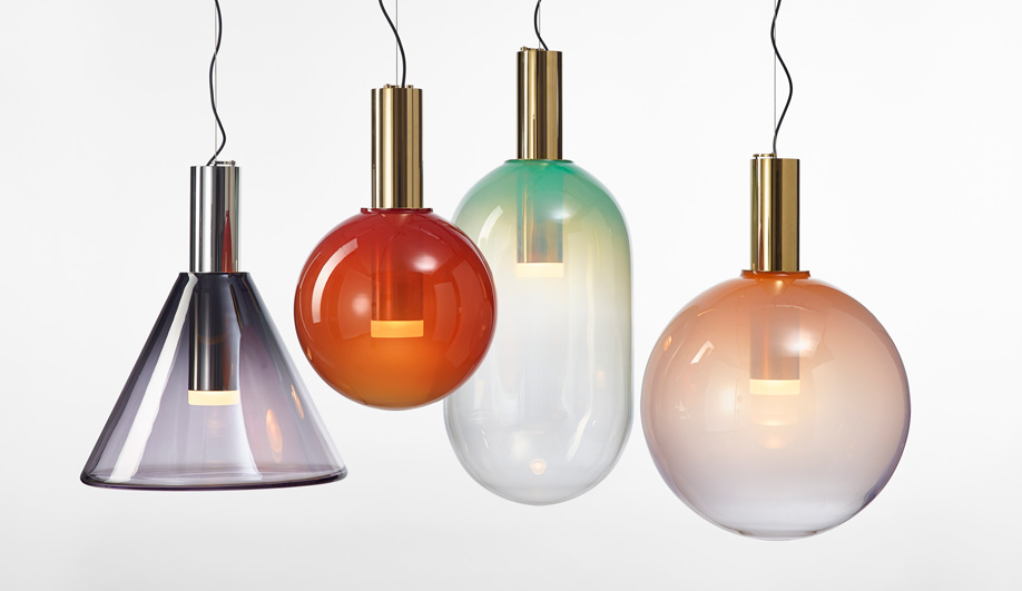 Clustered pendant lights: Phenomena by Bomma