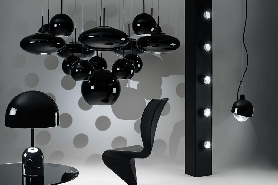 Clustered pendant lights: Tom Dixon's Copper