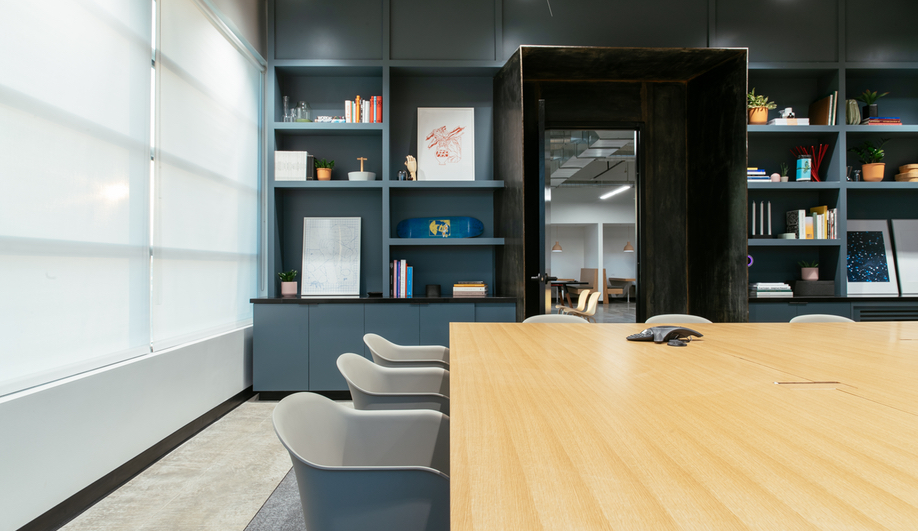 A meeting room in the Podium Office, designed by Untitled MFG's Cory Sistrunk