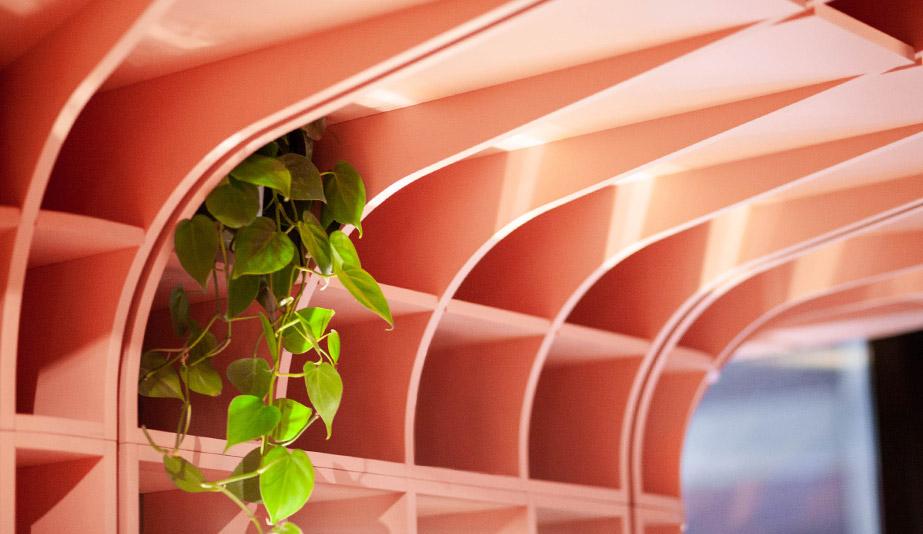 A detail shot of Ménard Dworkind Architecture & Design's Le Hideout