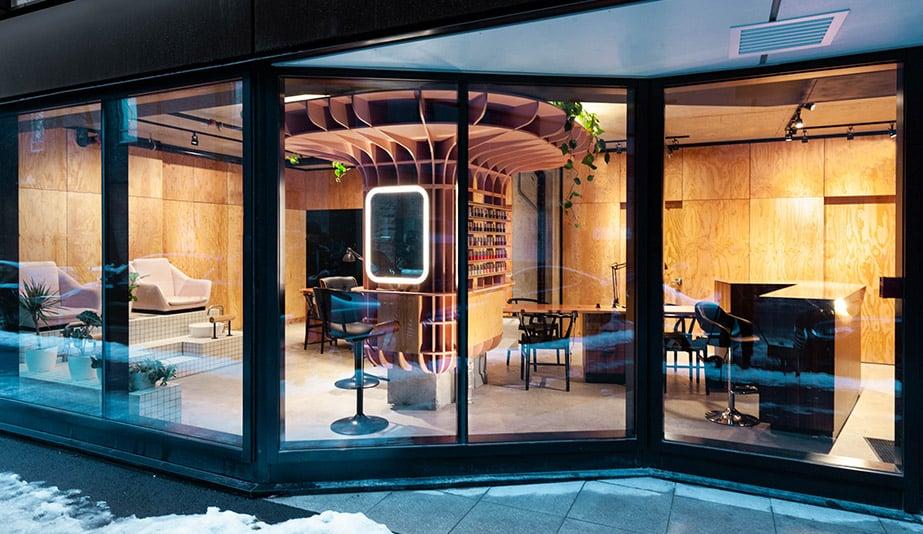 The exterior of Ménard Dworkind Architecture & Design's Le Hideout