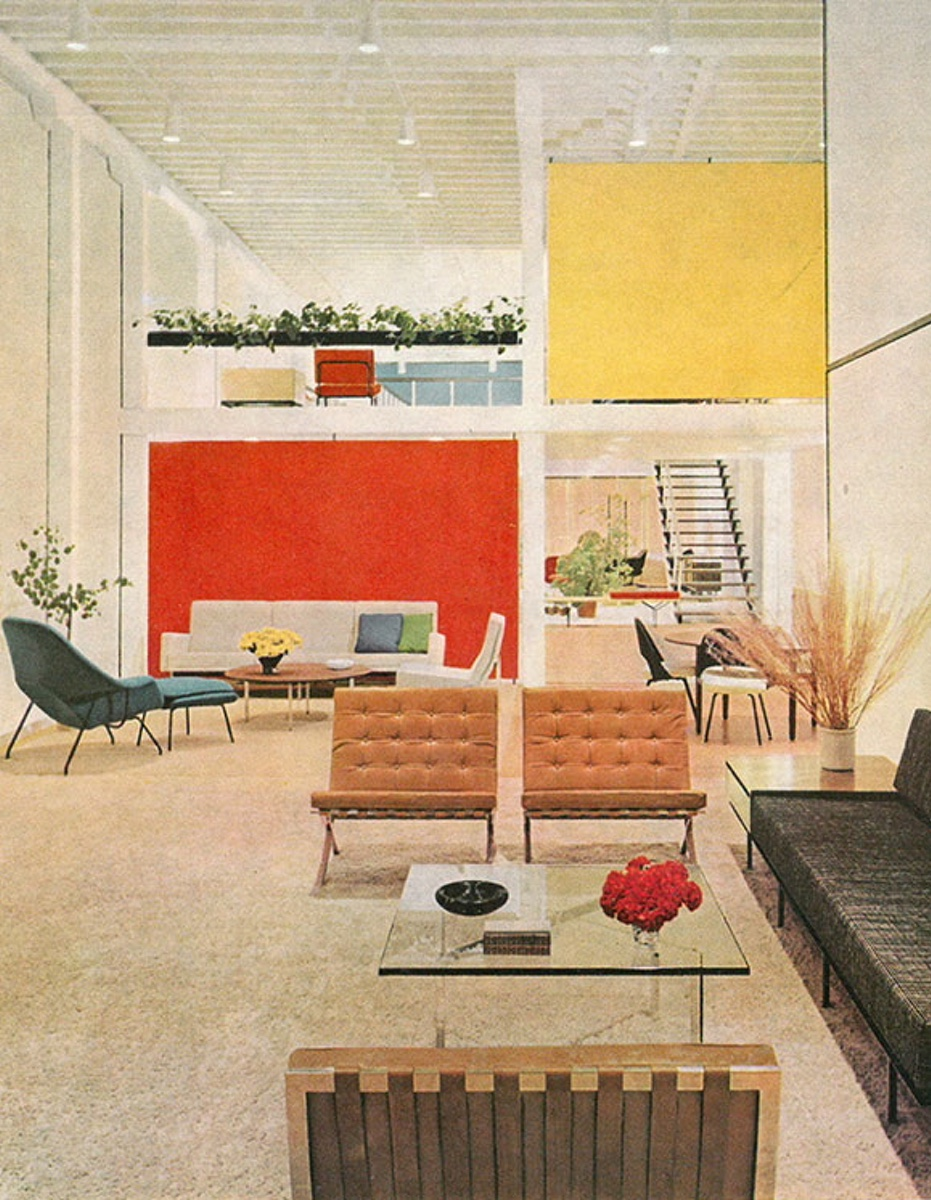 Knoll's San Francisco showroom in 1954, designed by Florence Knoll