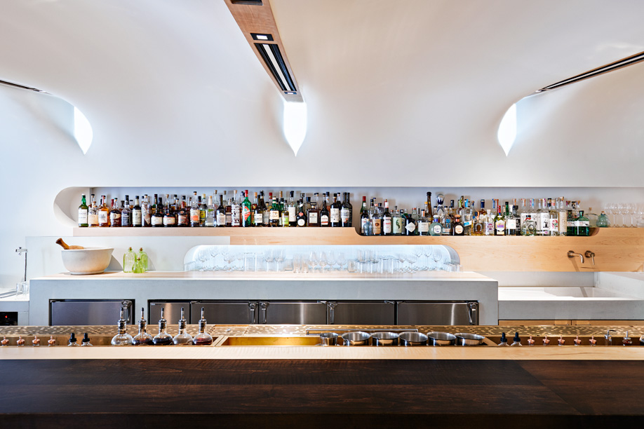 The bar at Toronto's Quetzal, the Mexican eatery designed by Partisans.