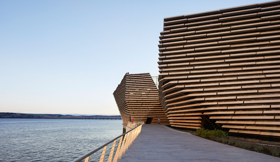 The exterior of Kengo Kuma's V&A Museum in Dundee.