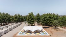 The Maidan Tent Provides a Cultural Node in a Greek Refugee Camp