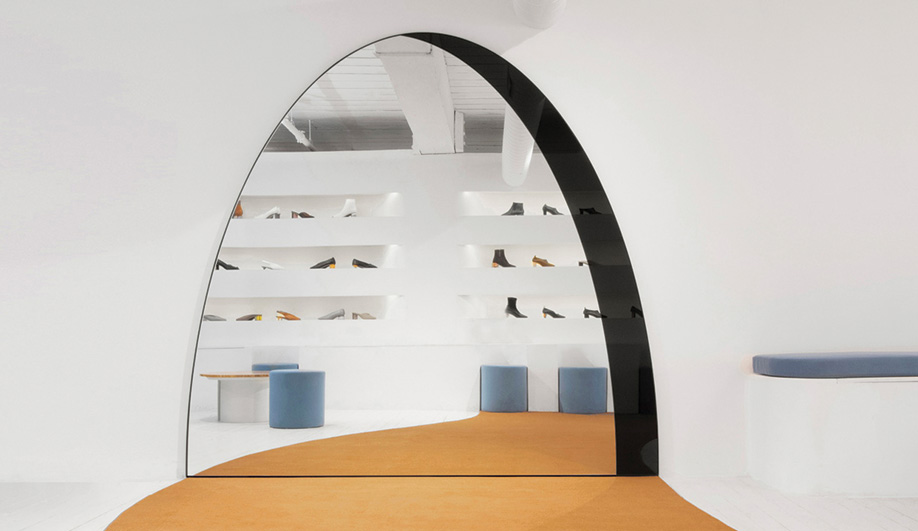Wide Archway Mirror by Bower Studios