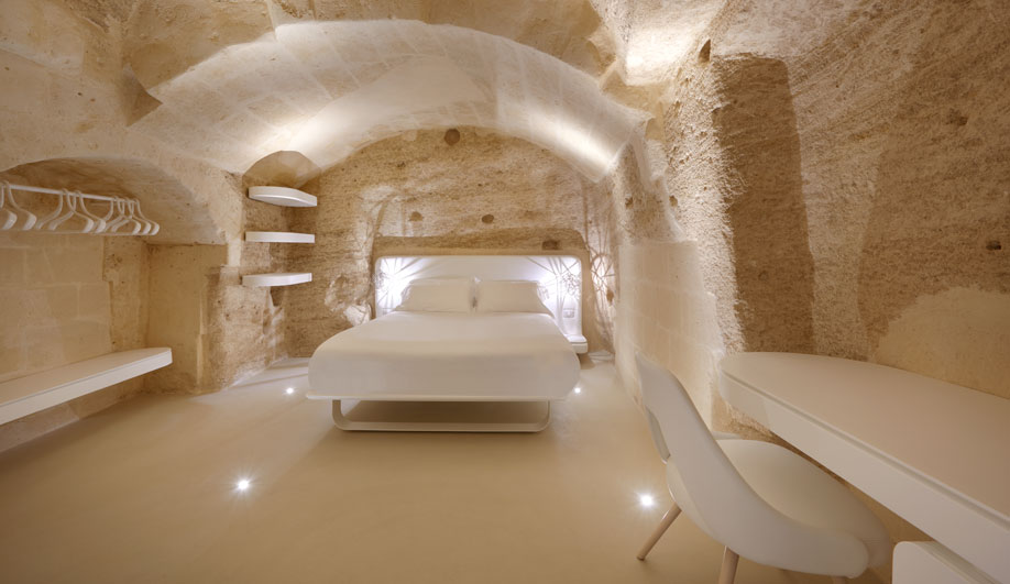 A Stunning Hotel and Spa in Matera Rejuvenates an Ancient Cave