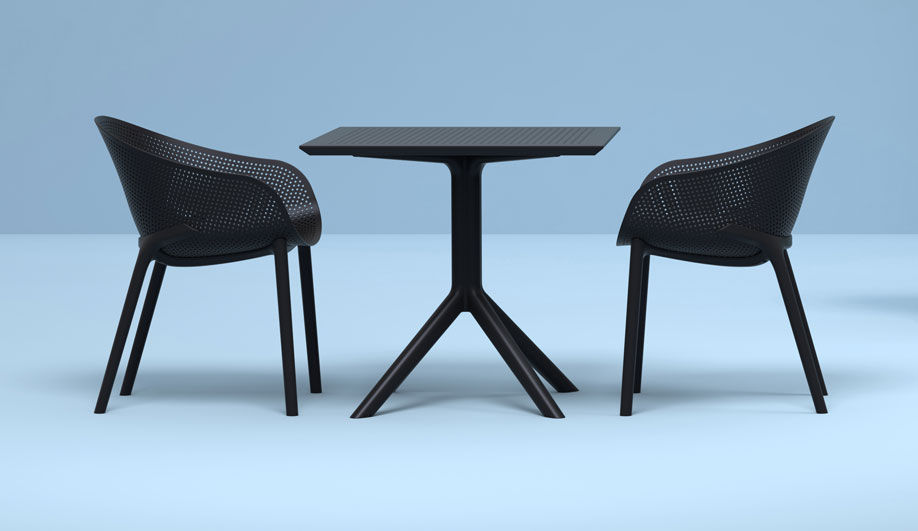 Sky Armchair and Dining Table by Hauser