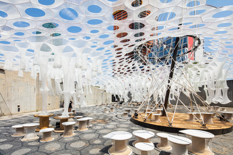 2017 MoMA PS1 Young Architects Pavilion, Lumen, Jenny Sabin Studio, women in architecture, women architects