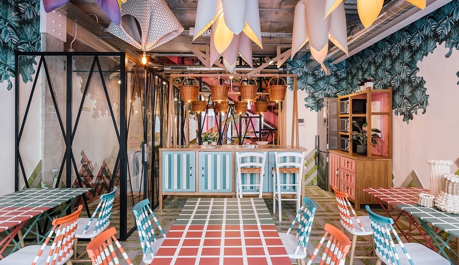This Barcelona Co-Working Space is Bursting with Colour