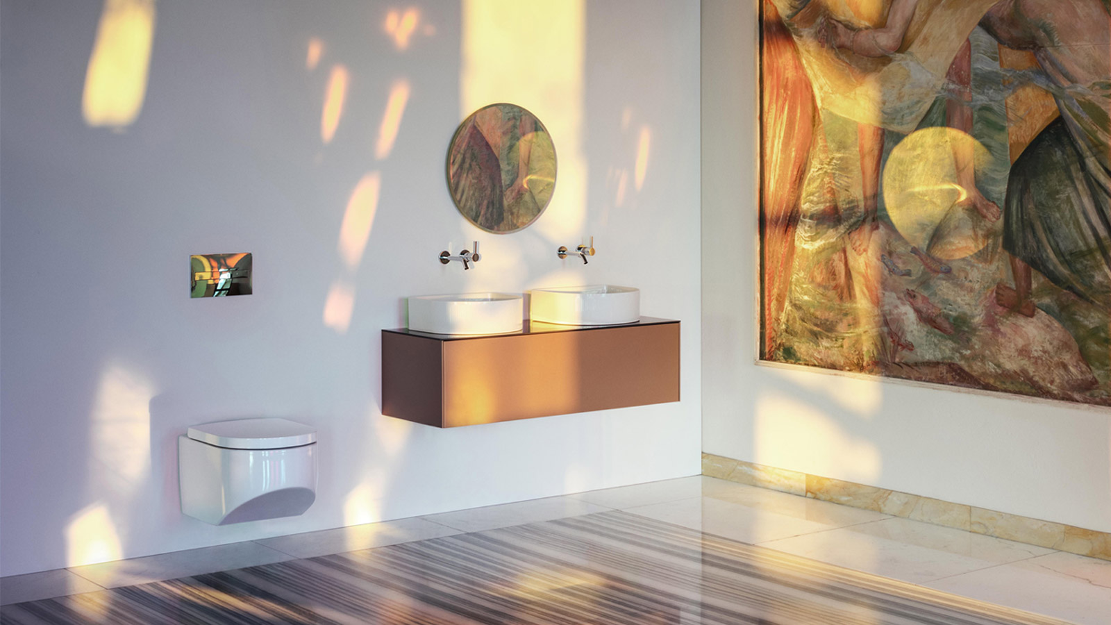 Laufen bathroom with natural daylight