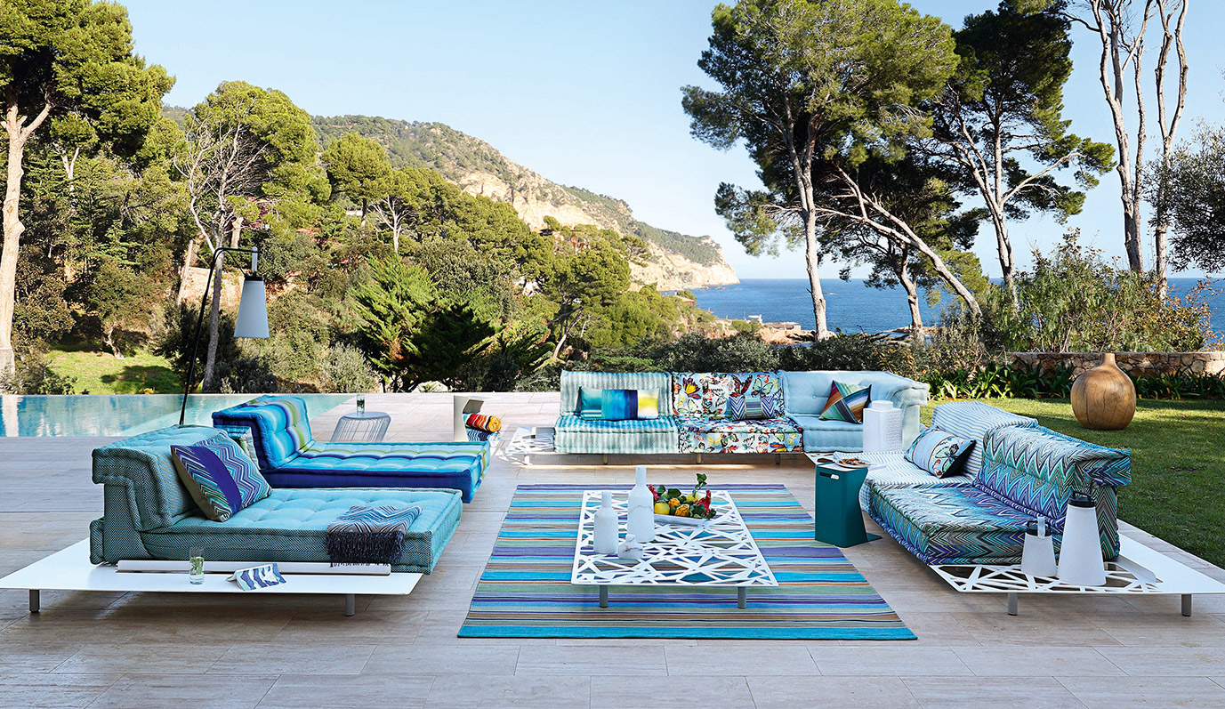 Mah Jong Outdoor, Roche Bobois, outdoor furniture collections
