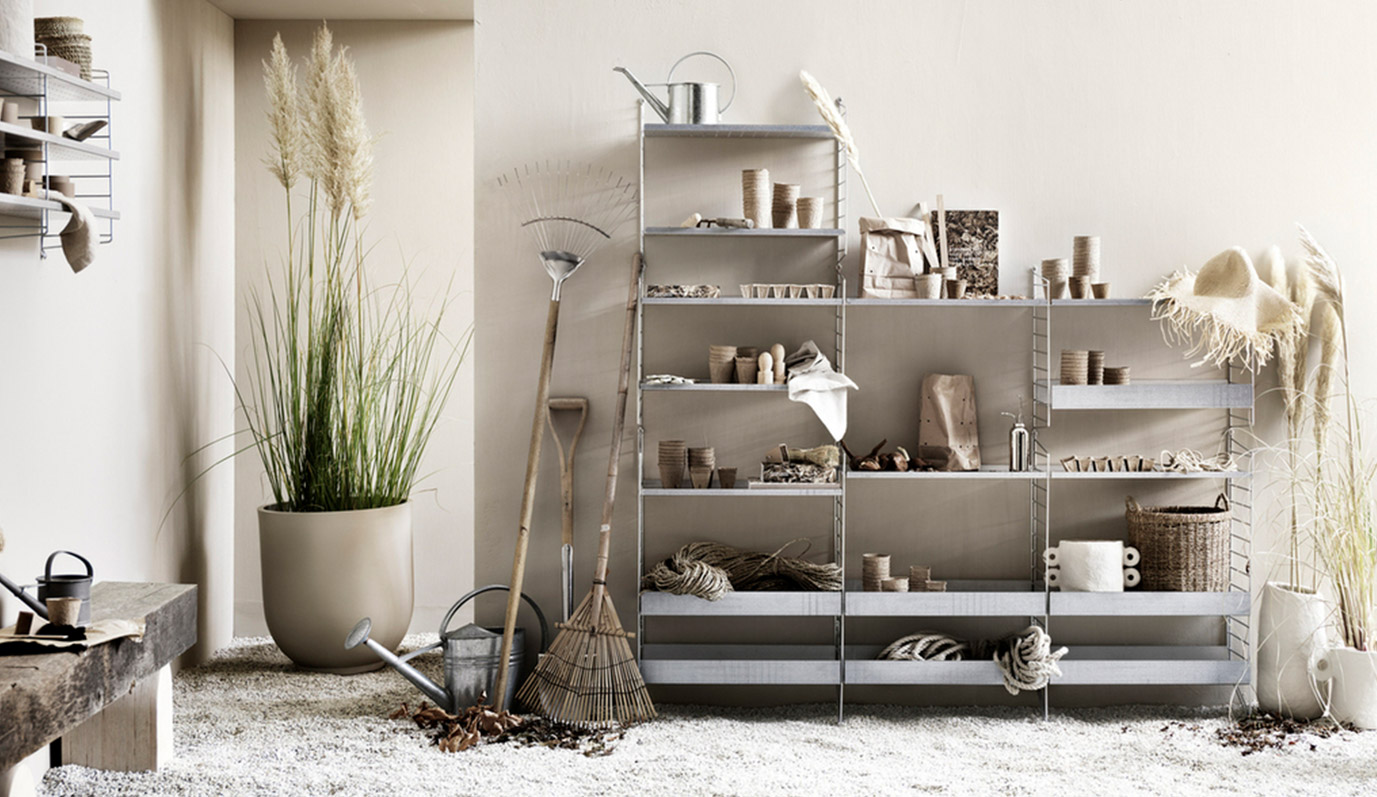 Outdoor Shelving by String