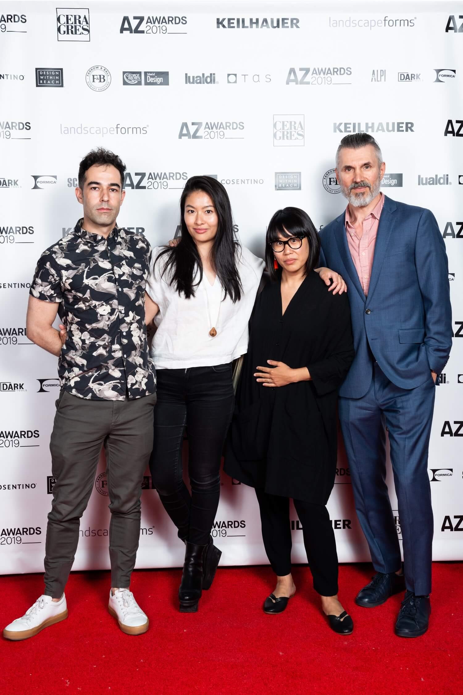 Designers Fraser Greenberg, Christian Lo, Deborah Wang and Dragan Vuko, AZ Awards 2019: Scenes from the Gala