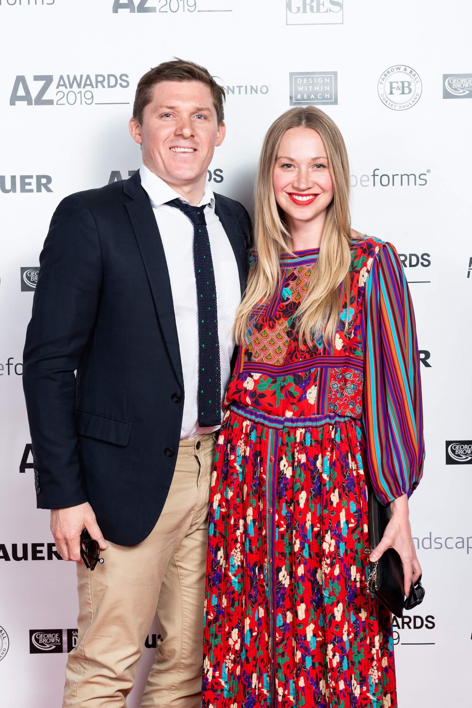 Luke and Alexandra Chang-Hunter of Turf Design Studio, AZ Awards winners in Environmental Leadership, AZ Awards 2019: Scenes from the Gala