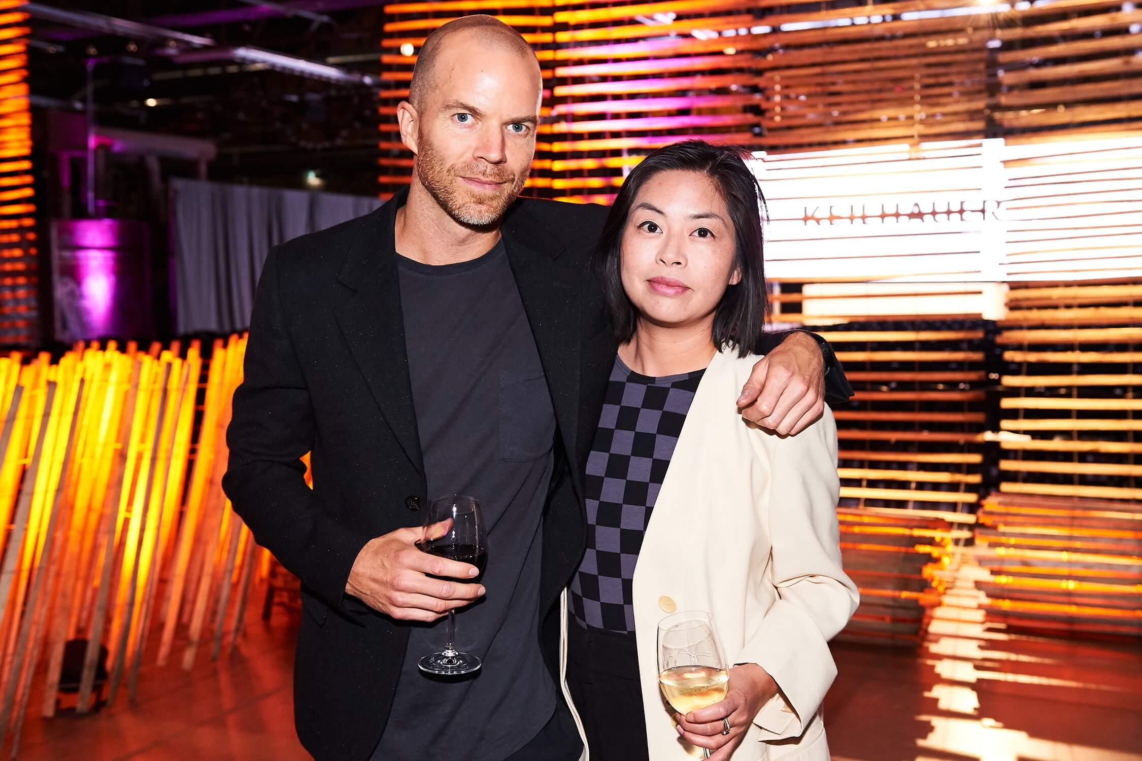 Designers Matt Carr (an AZ Awards 2019 juror, and the designer of this year's trophy) and Joyce Lo, AZ Awards 2019: Scenes from the Gala