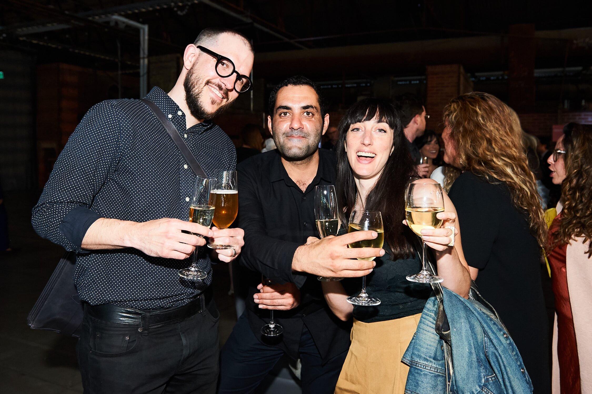 Superkul's Will Elsworthy, Pooya Baktash of Partisans and Lauren Abrahams of Public Work, AZ Awards 2019: Scenes from the Gala