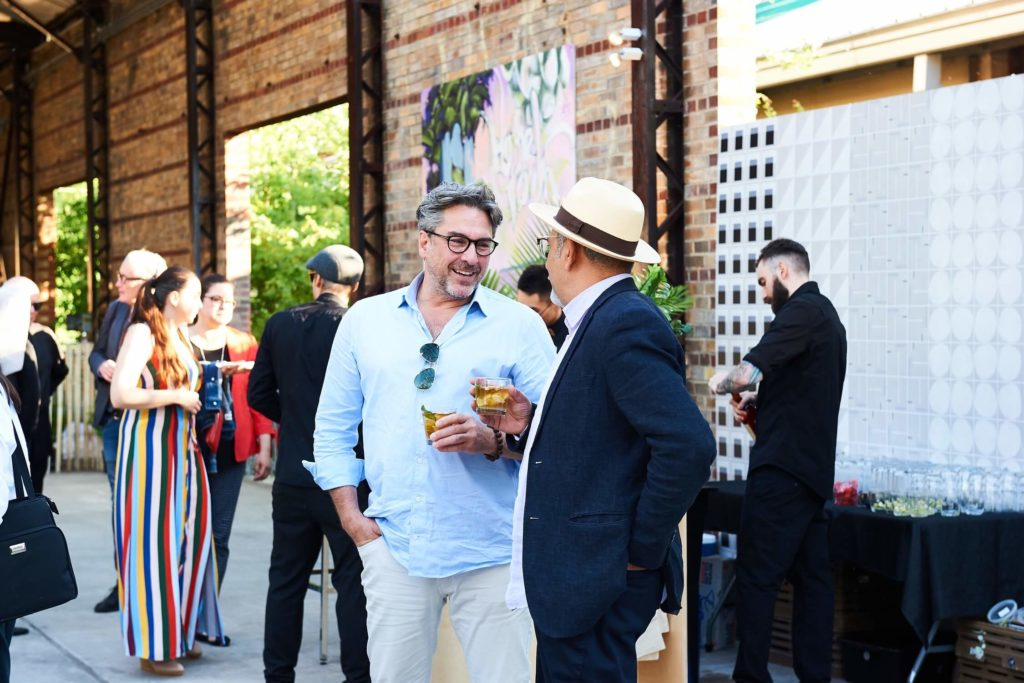 Designers Scott Laughton and Arriz Hassam enjoying a chat, AZ Awards 2019: Scenes from the Gala