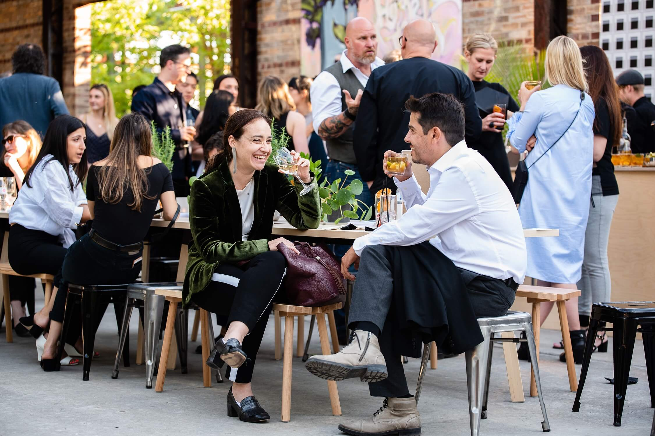Mingling in the courtyard, AZ Awards 2019: Scenes from the Gala