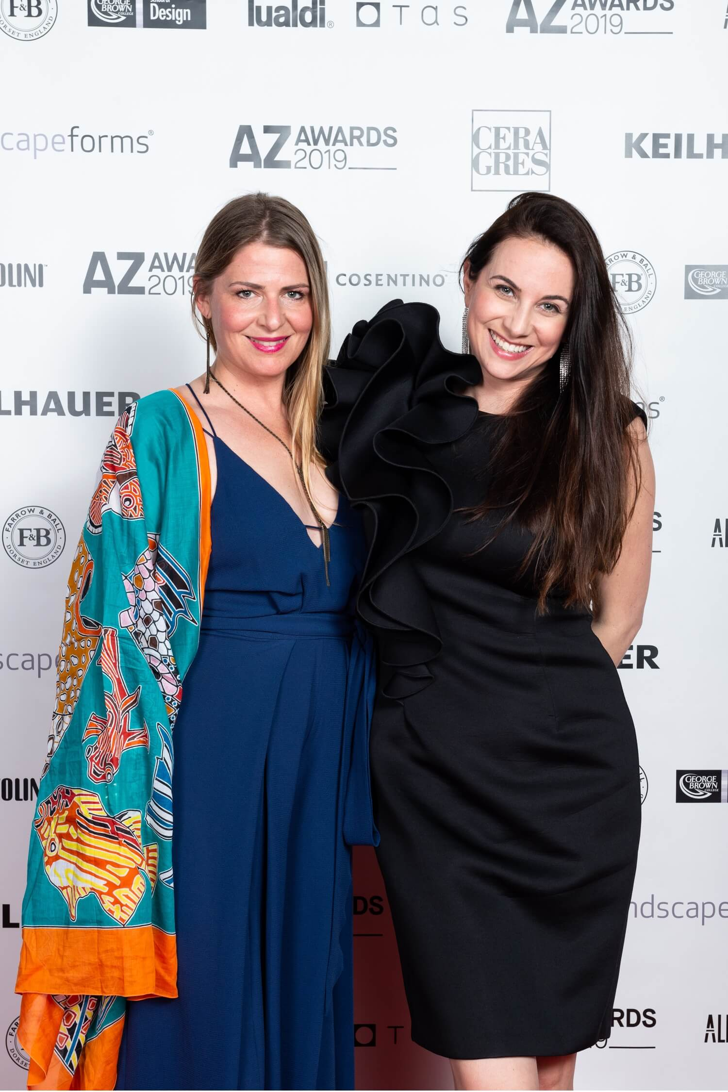 Step and repeat with Cara McBride and Sandra Rizkalla, AZ Awards 2019: Scenes from the Gala