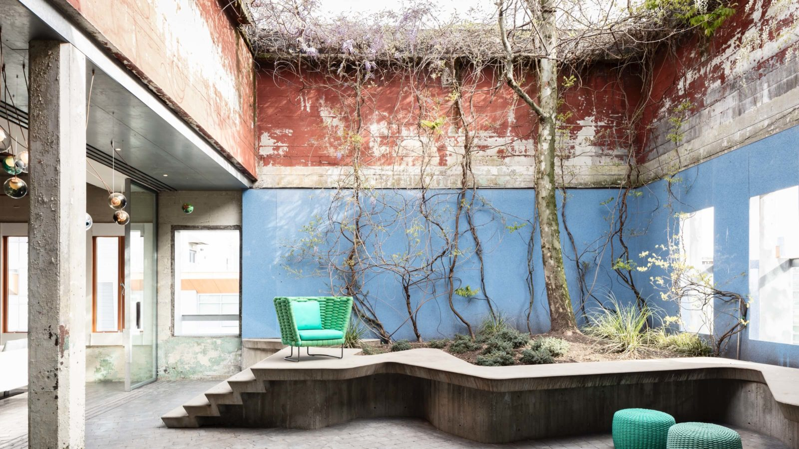 The outdoor furniture brand Paola Lenti is featured on Livingspace's new fifth-floor courtyard.