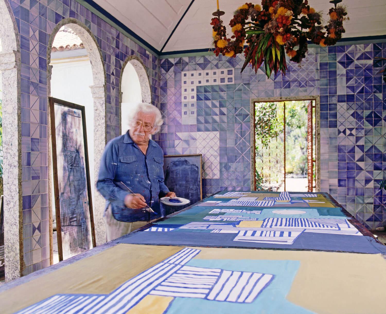Roberto Burle Marx at work