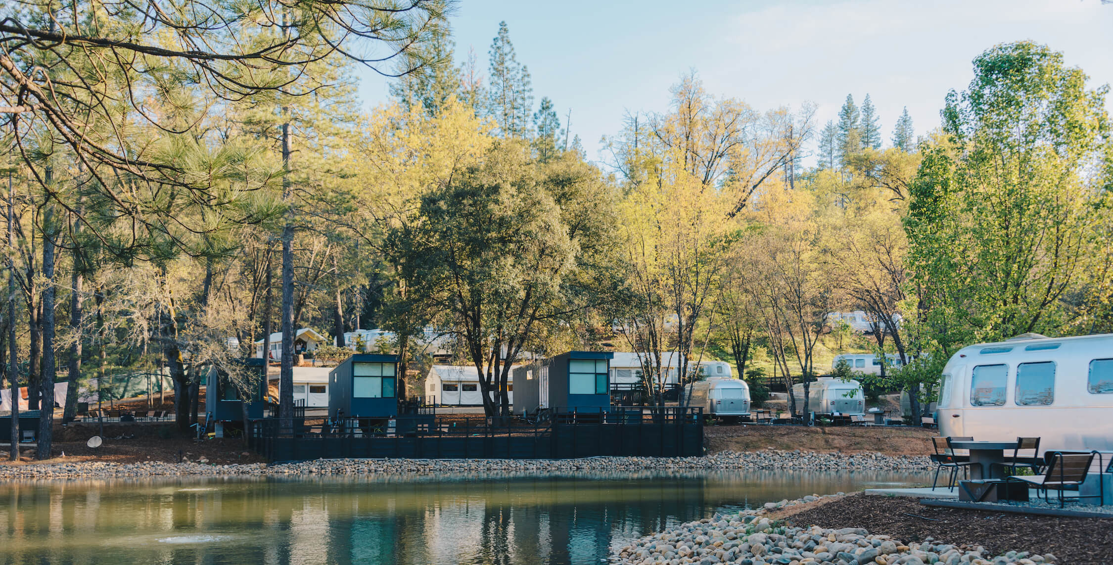 Autocamps Yosemite, luxury camping, glamping, trailer park view