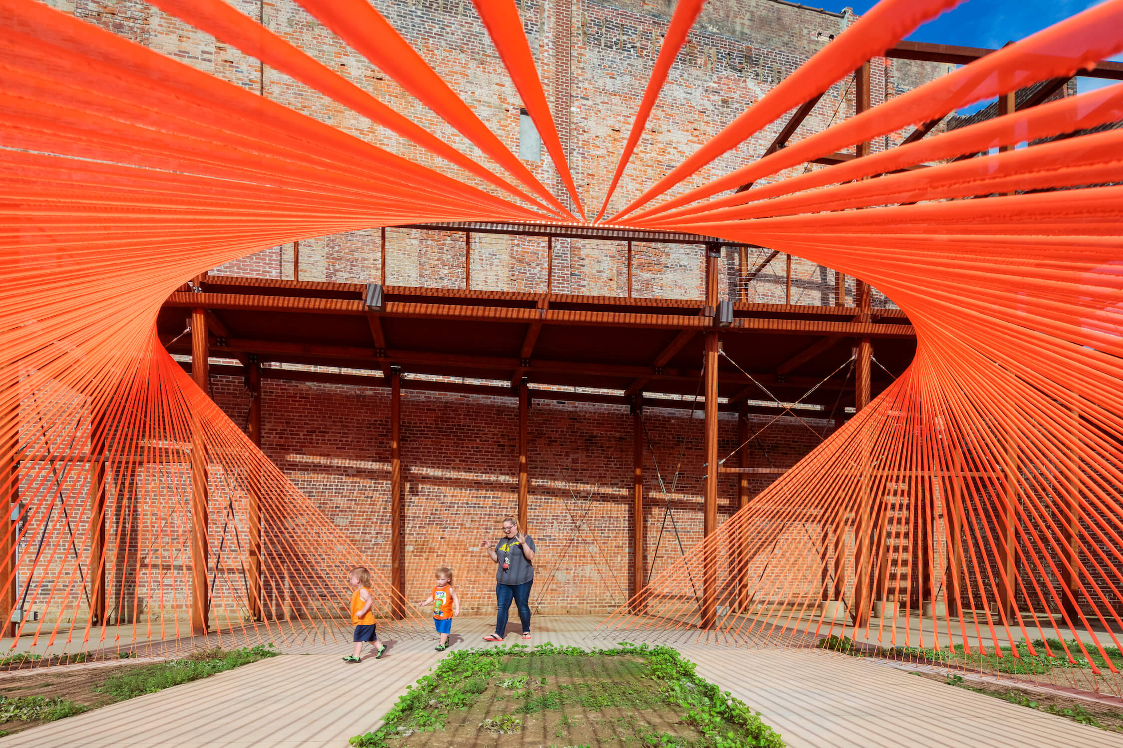 Inside Coschocton Ray Trace, Summer Pavilions 2019