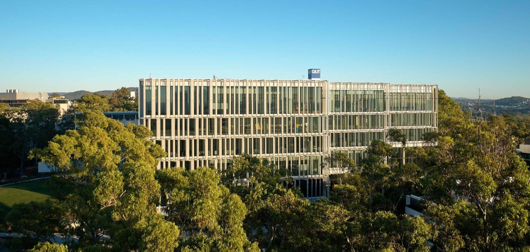 A panoramic view of the new QUT building by Henning Larsen