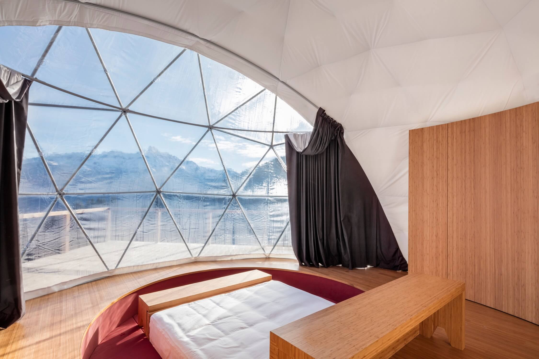 Whitepod Hotel, Zen Suite, glamping, luxury camping