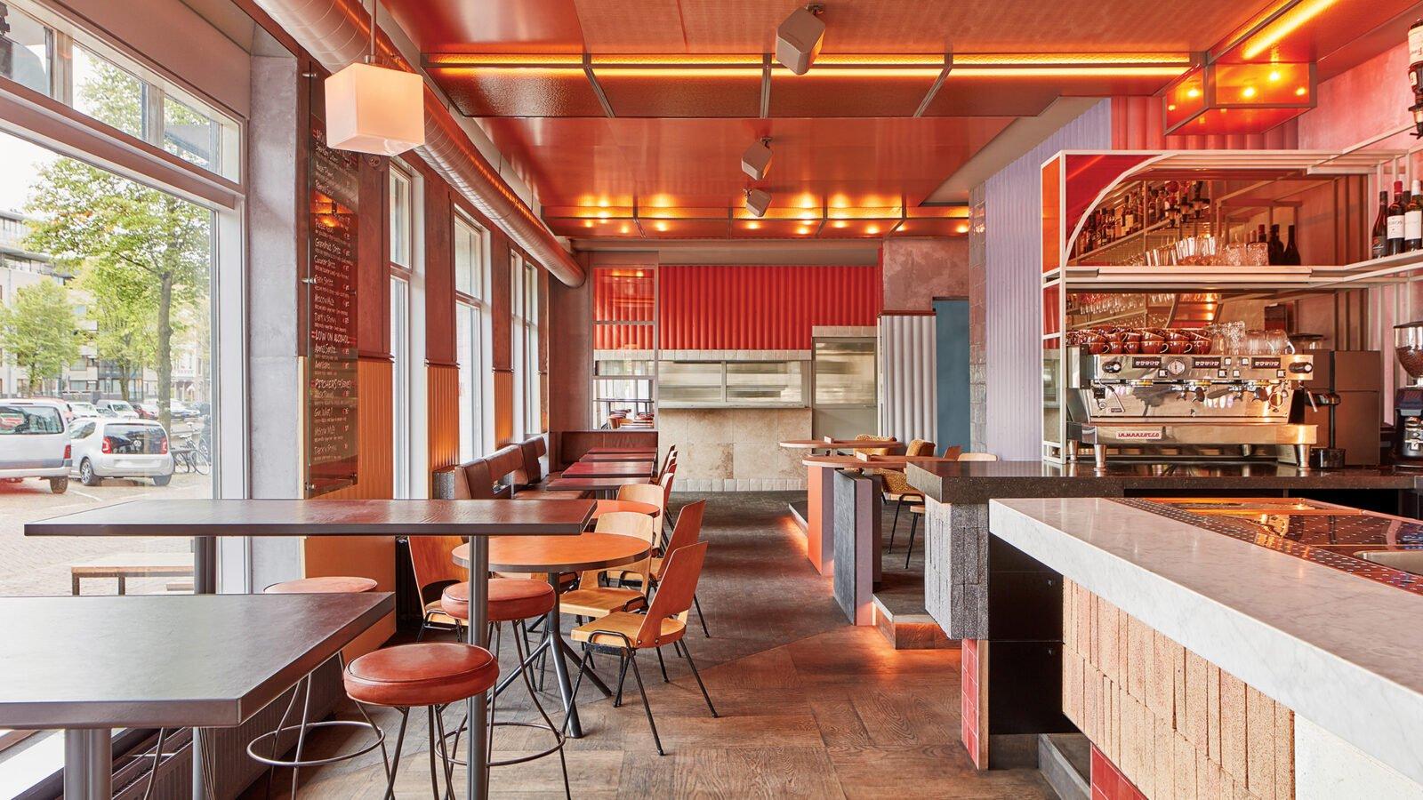 "Interior Design Studio Amsterdam studio modijefsky's bar ramona riffs on amsterdam's ""brown"
