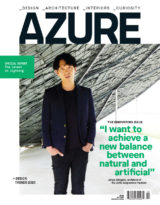 Junya Ishigama on the cover of the October 2019 issue of Azure Magazine. The Innovators Issue.
