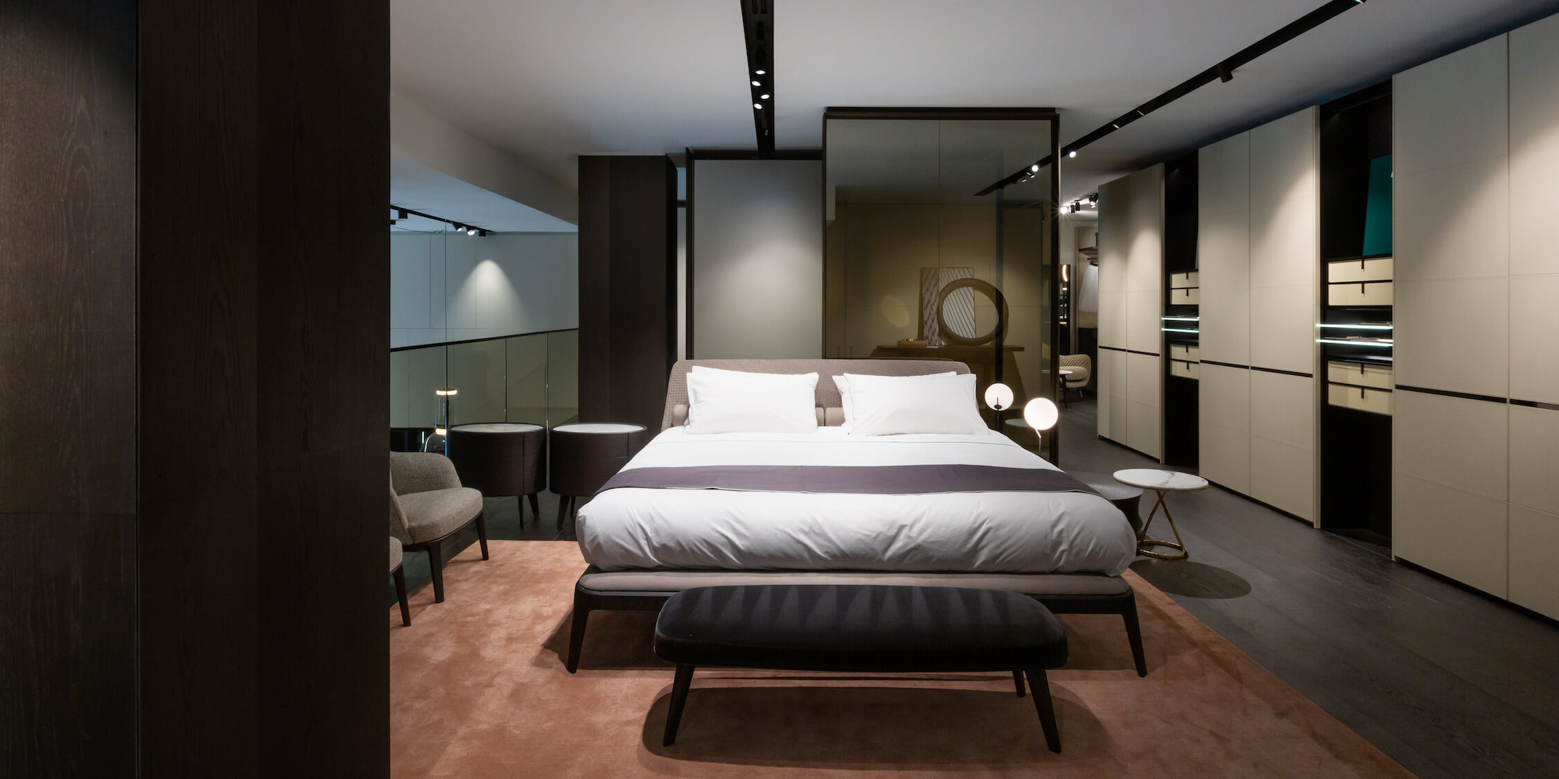 A bedroom at Poliform Vancouver