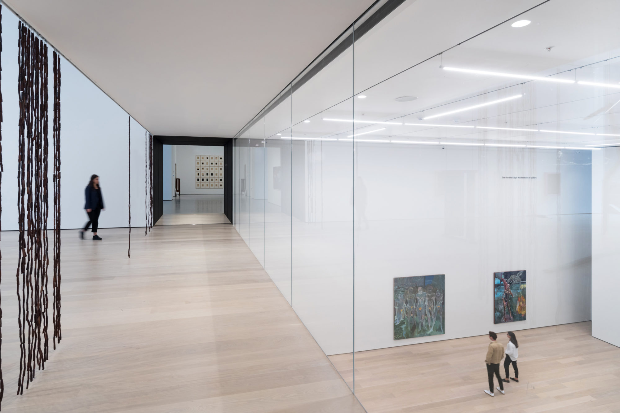 Diller Scofidio + Renfro's MoMA features glass walls that provide views into the galleries below