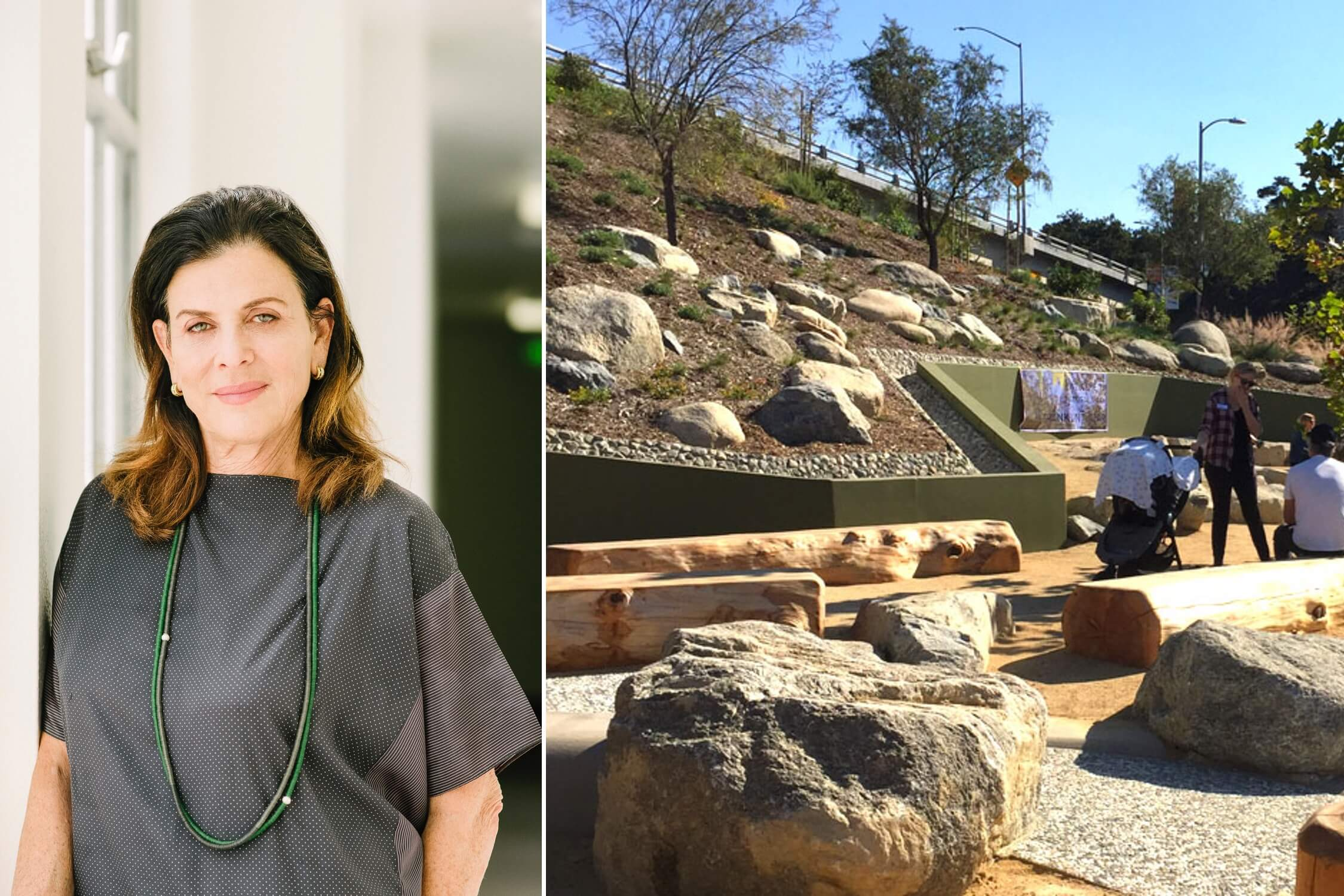 Mia Lehrer and her firm's Franklin Ivar Park in Los Angeles