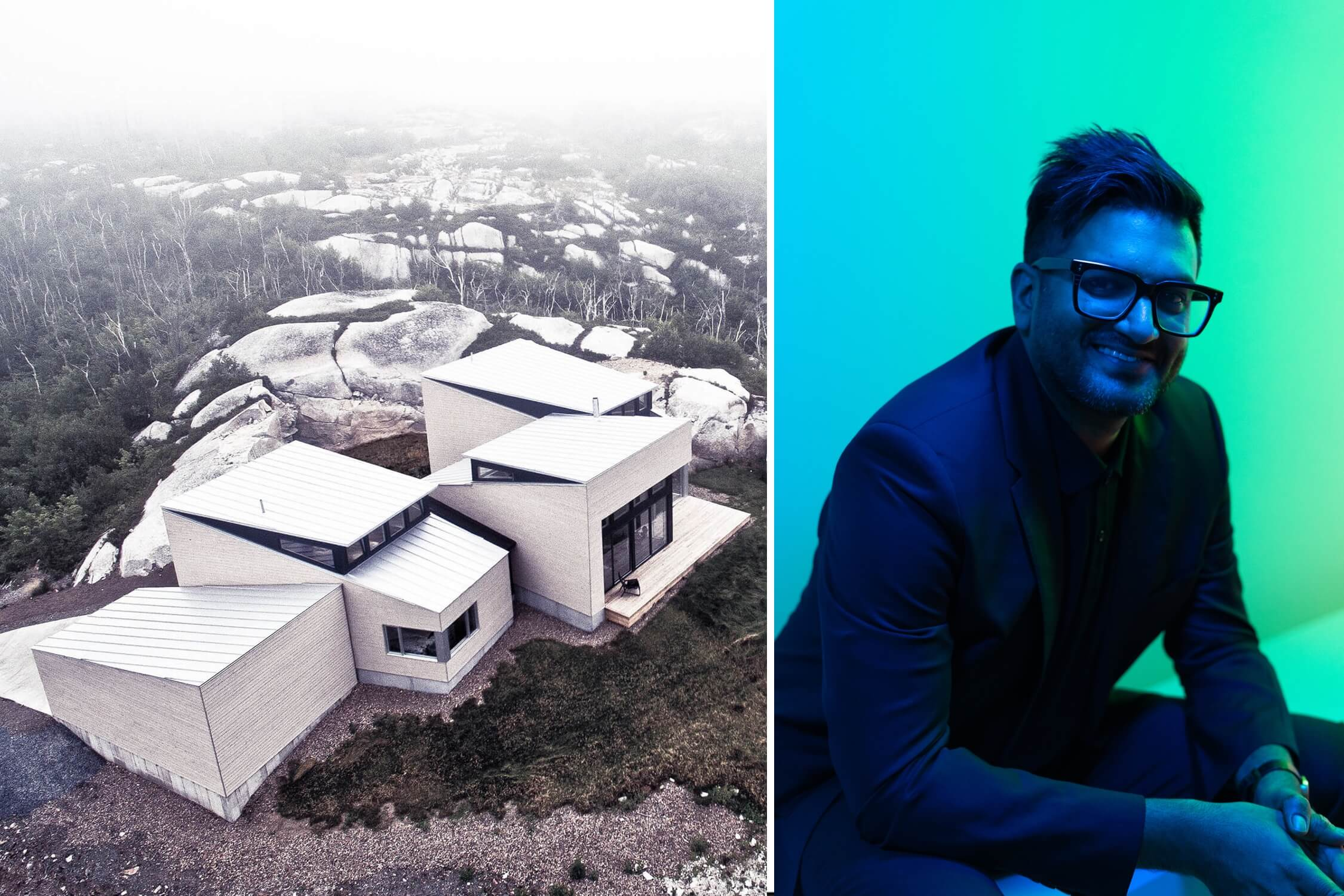 Omar Gandhi and his Float house in Halifax, Nova Scotia, AZ Awards 2020