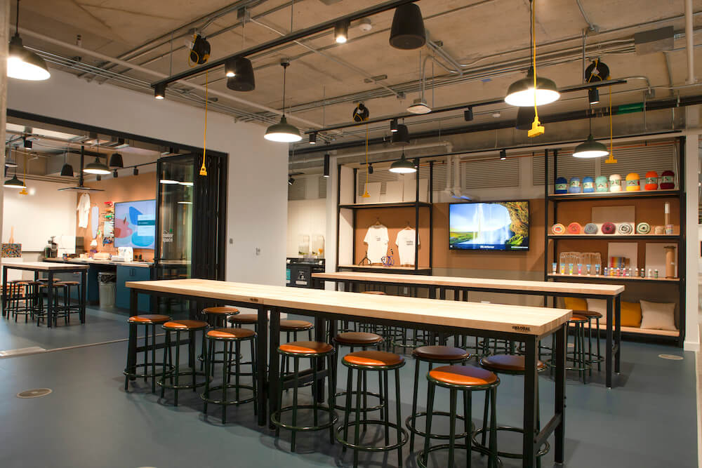 The in-house craft workshop at Shopify Toronto, completed by Alliance Construction.