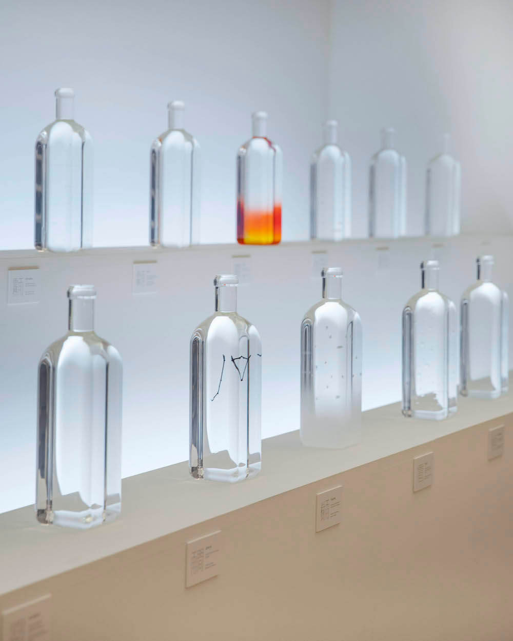 A close-up look at the Rain Bottle installation